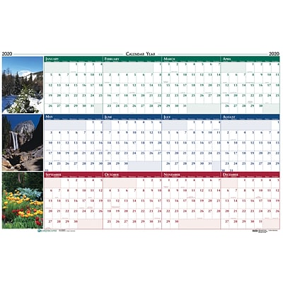 House of Doolittle 2019 Laminated Wipe Off Wall Calendar Earthscapes Scenic Reversible 24 x 37  (HOD393)