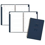 AT-A-GLANCE® Signature Collection™ Weekly/Monthly Planner, 13 Mo., January Start, Wirebound, Navy, 5