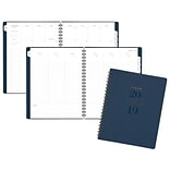AT-A-GLANCE® Signature Collection™ Weekly/Monthly Planner, 13 Months, January Start, Wirebound, Navy