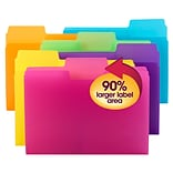 Smead SuperTab® File Folder, Oversized 1/3-Cut tab, Letter Size, Poly, 18 per Pack (10515)