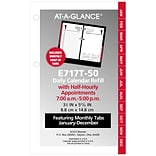 AT-A-GLANCE® Daily Loose-Leaf Desk Calendar Refill with Monthly Tabs, 12 Months, January Start, 3 1/
