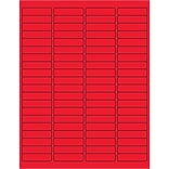 Tape Logic® Rectangle Laser Labels, 1 15/16 x 1/2, Fluorescent Red, 8000/Case (LL171RD)