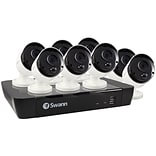 Swann SWNVK-875808-US 8-Channel 5-Megapixel NVR with 2TB HD & 8 True Detect Bullet Cameras with Audi