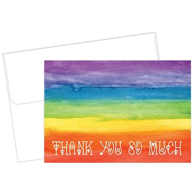 Masterpiece Studios Great Papers!® Rainbow Love Thank You Note Card, 4.875H x 3.35W (folded), 20 count (2017051)
