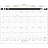 2019 AT-A-GLANCE® Contemporary Monthly Wall Calendar, 12 Months, January Start, 14 7/8 x 11 7/8, W