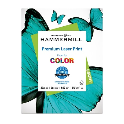 Hammermill 3 Hole Punch Laser Copy Paper, 8-1/2 x 11, 96 Bright, 24 LB, 600 Sheets