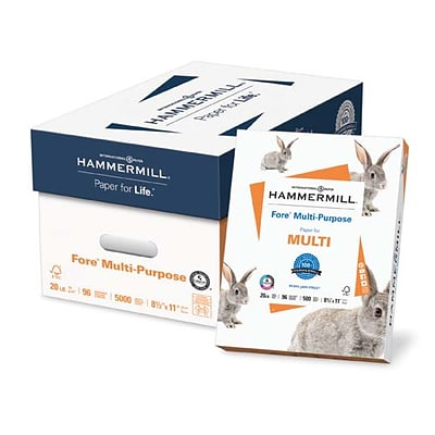 IP Hammermill® Fore® 8 1/2 x 11 24 lbs. 3HP Multipurpose Bond Paper, White, 5000/Case
