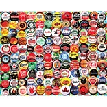 White Mountain Puzzles Beer Bottle Caps Jigsaw Puzzle 550 Pieces 18H x 24W (WM995)