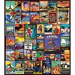 White Mountain Puzzles Travel The World Jigsaw Puzzle 550 Pieces 18H x 24W (WM1153)