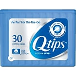Q-tips Cotton Swabs Travel Pack, 30 Count, 36/Carton  (22127)