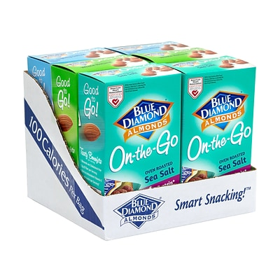 Blue Diamond Almonds Variety On-The-Go Pouches, 0.625 oz., 42/Pack (220-00796)