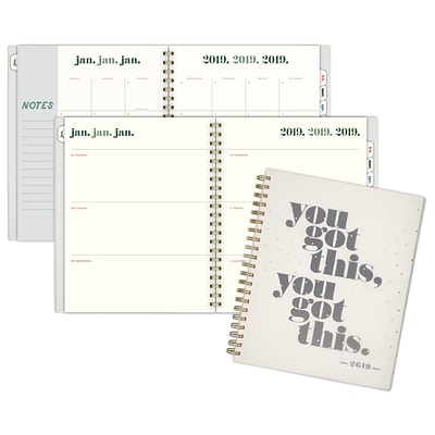 2019 Emily + Meritt Weekly/Monthly Planner, 12 Months, January Start, 8 1/2 x 11, You Got This (EM102-905-19)