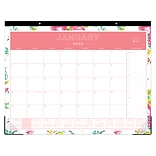 2019 Blue Sky Desk Pad DD Peyton White 22 H x 17  W RY Monthly Trim Tape (103631-19)