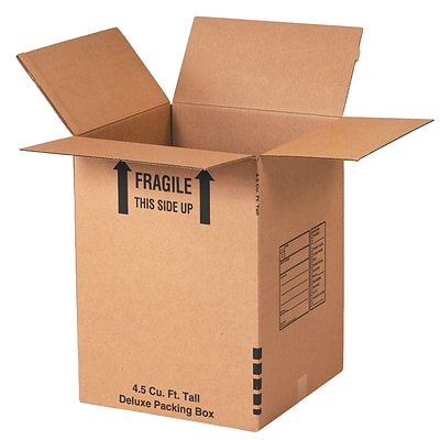 18 x 18 x 24, Partners Brand Deluxe Packing Boxes, Kraft, Brown, 6/Pack (181824DPBRP6)