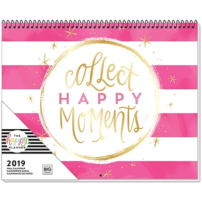 2019 The Happy Planner® 15H x 12W Wall Calendar (PWC-01)