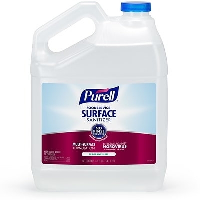 Purell® Foodservice Surface Sanitizer, Fragrance Free, 1 Gallon, Each (4341-04)