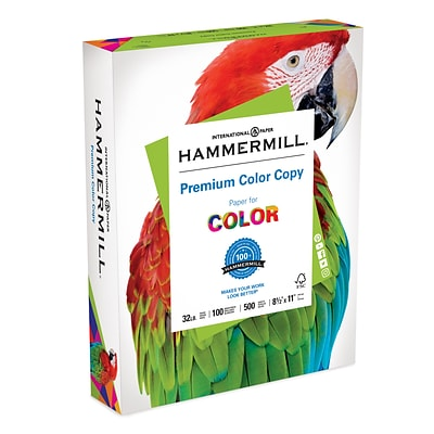 Hammermill® Paper, Premium Color Copy Printer Paper, 100 Bright, 32lb, 8.5 x11, Letter, 500 Sheets/1 Ream(102630)