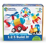 Learning Resources 1-2-3 Build It - Train/Rocket/Helicopter (LER2859)