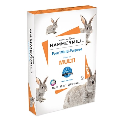 Hammermill Bright White Fore Copy Paper, A4, 92 Bright, 20 LB, 500 Sheets (10303-6)
