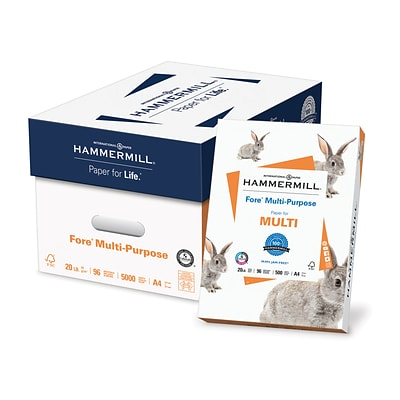 Hammermill® Fore™ Multipurpose Office Paper, A4-Size, 96/108+ US/Euro Brightness, 20 Lb., 8 3/8H x 11 3/4W, 500 Sheets/Rm