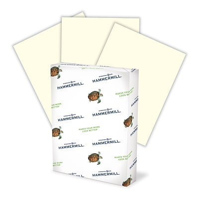 Hammermill Recycled Fore® MP Color Paper, LETTER-size, 20 lb., Cream, 8 1/2 x 11, 500 Sheets/Ream