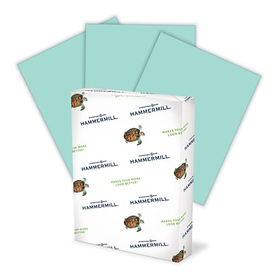 Hammermill Fore® MP Color Paper, Turquoise, 20 lb., 8 1/2 x 11, 500/Ream