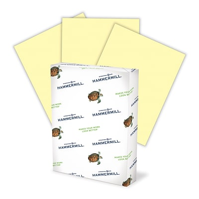 Hammermill® Colors 24-lb. Pastel Paper, 8-1/2x11, Letter Size, Canary Yellow