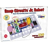 Elenco Snap Circuits Jr Select Plastic Electronic Learning , Assorted Colors, 130 Piece (EE-SC130)