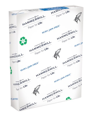 """Hammermill Great White 30/% Recycled 8.5/"""" x 11/"""" Copy Paper 20 lbs 92 Brightness"""