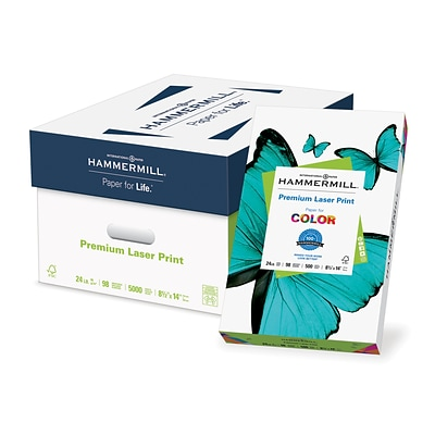 Hammermill® Laser Print Office Paper, 8 1/2 x 14, 96 Bright, 24 LB, 10 Reams of 500 Sheets (104612)
