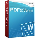 Wondershare PDF to Word Converter for 1 User, Windows, Download (10201603)