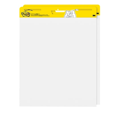 Post-it® Super Sticky Easel Pad, 25 x 30, White (559)
