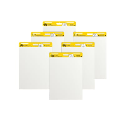 Post-it® Super Sticky Easel Pad, 25 x 30, White, 30 Sheets/Pad, 6 Pads/Pack (559-VAD-6PK)