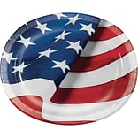 Creative Converting Freedoms Flag Oval Platters 8 pk (327199)