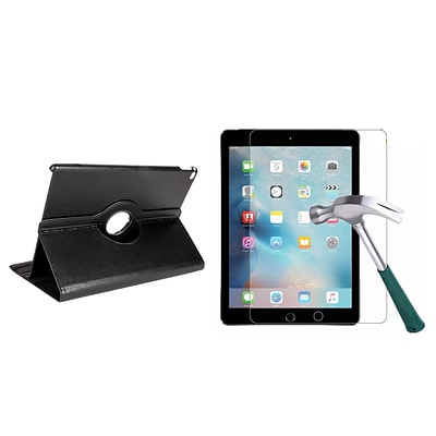Vangoddy Bundle 2 in 1 Black Slim Folding Stand 360 Rotating Smart Cover Case for IPad Pro 12.9 (PT_000001197_X1)