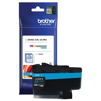 Brother LC3035C Cyan INKvestment Tank Ink Cartridge, Ultra High Yield