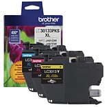 Brother Genuine LC30133PKS 3-Pack High-yield Color Ink Cartridges