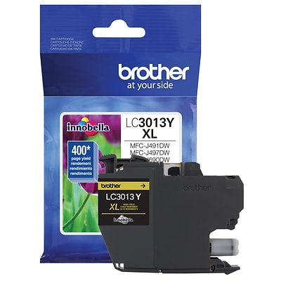 Brother Genuine LC3013Y High-yield Yellow Ink Cartridge