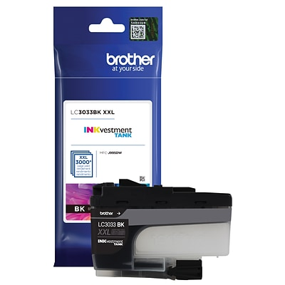 Brother LC3033BK Black INKvestment Tank Ink Cartridge, Super High Yield