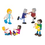 Melissa & Doug Wooden Flexible Figures- Family (2470)