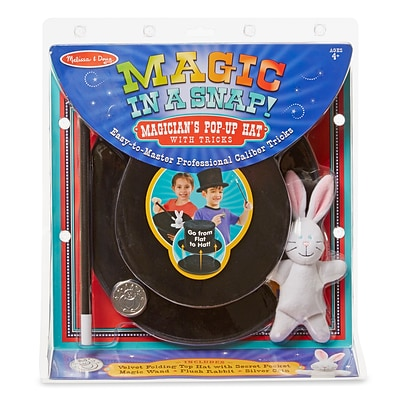 Melissa & Doug Magic in a Snap - Magicians Pop-Up Magical Hat with Tricks (4042)