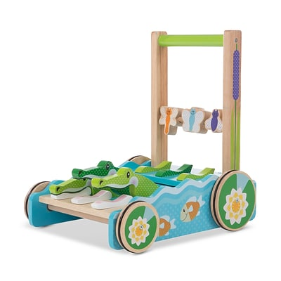 Melissa & Doug FIRST PLAY Chomp and Clack Alligator Wodden Baby Push Toy (3129)