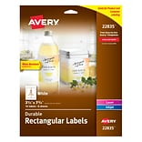 Avery Durable Labels, Permanent Adhesive, 3-1/4 x 7-3/4, Rectangle, 16 Labels (22835)