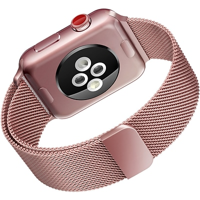 LAX Milanese Style Apple Watch Band 38mm, Rose Gold (LAX-AWML38-ROS)