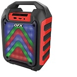 QFX PBX-4 4 Rechargeable Party Speaker with Bluetooth/USB and FM Player