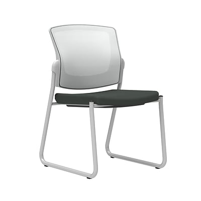 Workplace2.0™ 500 Series Fabric Guest Chair, Iron Ore, Integrated Lumbar, Armless, Stationary, Fully Assembled