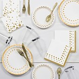 Creative Converting Sparkle and Shine Gold Party Supplies Kit (DTC1835E2A)
