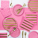 Creative Converting Candy Pink and Gold Foil Party Supplies Kit (DTC3294E2A)