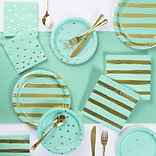 Creative Converting Fresh Mint and Gold Foil Party Supplies Kit (DTC3295E2A)