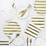 Creative Converting White and Gold Foil Party Supplies Kit (DTC3297E2A)